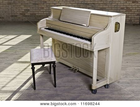 Dusty Piano In Warehouse