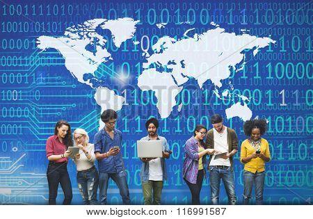 Worldwide Global Unity Social Gathering Community Concept