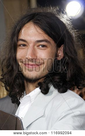 Ezra Miller at the Los Angeles premiere of