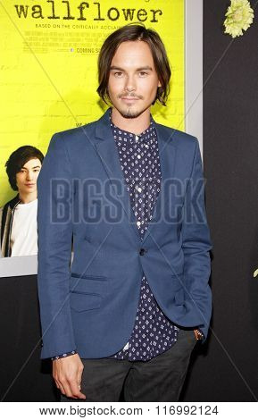 Tyler Blackburn at the Los Angeles premiere of