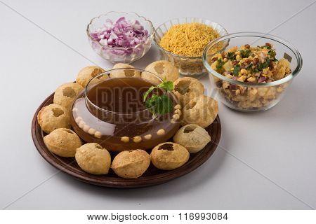 Pani Puri or panipuri, Golgappe or gol gappe, Chat item, India