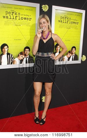 April Ross at the Los Angeles premiere of 'The Perks Of Being A Wallflower' held at the ArcLight Cinemas in Hollywood, USA on September 10, 2012.