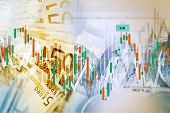 Forex Traders Background. Currency Exchange and Trading Business Concept Illustration. poster