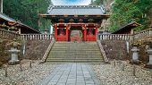 Nio-mon Gate at Taiyuinbyo - the Mausoleum of Shogun Tokugawa Iemitsu in Nikko, Japan poster