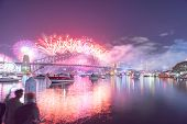 Sydney 2016 New Year Eve Fireworks Show at the Harbour Bridge poster