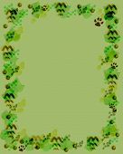 nature symbols border blank center scrapbook illustration poster