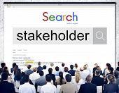 Stakeholder Shareholder Corporate Partner Associate Share Concept poster