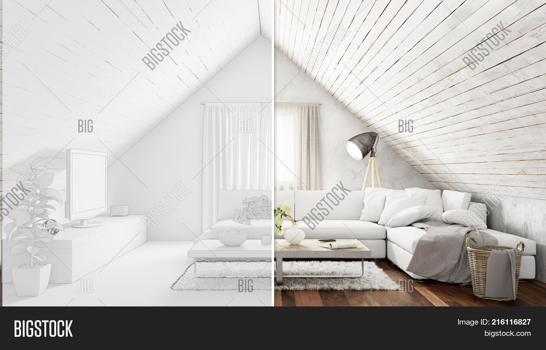 Attic CAD Room Planner Image Photo Free Trial Bigstock