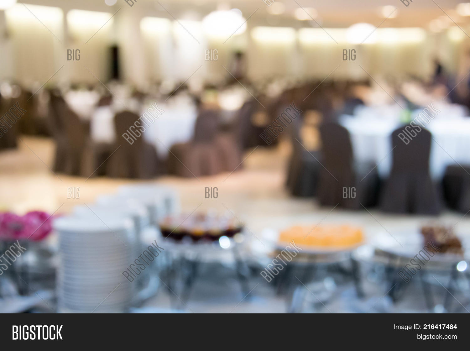 Blur Catering Setup Image Photo Free Trial Bigstock