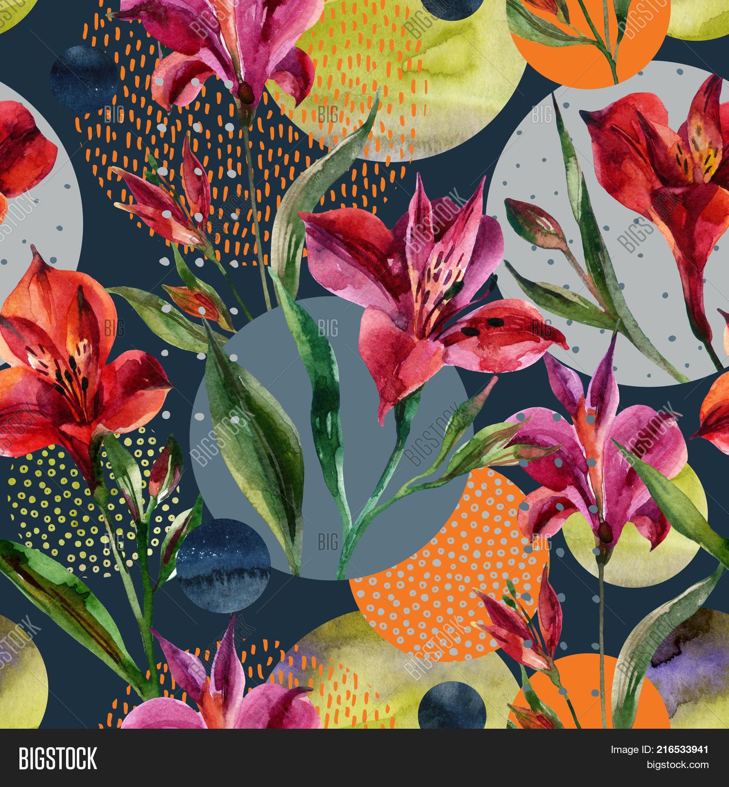 Minimal Abstract Flower Art