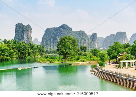 Wonderful View Of The Yulong River With Azure Water, China
