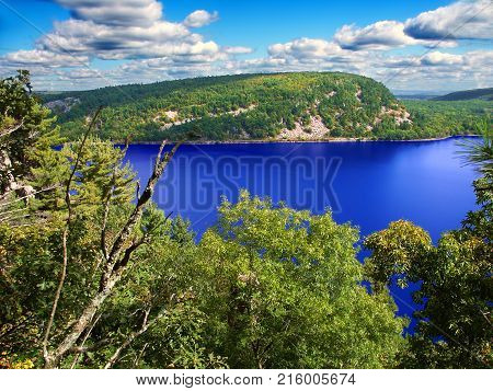 Beautiful view of Devils Lake State Park in Wisconsin