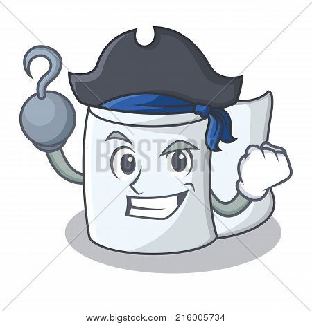 Pirate tissue character cartoon style vector illustration