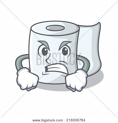 Angry tissue character cartoon style vector illustration
