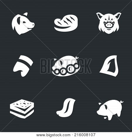 Pig, steak, wild boar, hoof, food, ear, lard, tongue, piggy bank.