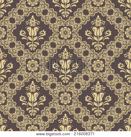 Classic seamless vector pattern. Traditional orient golden ornament. Classic vintage background