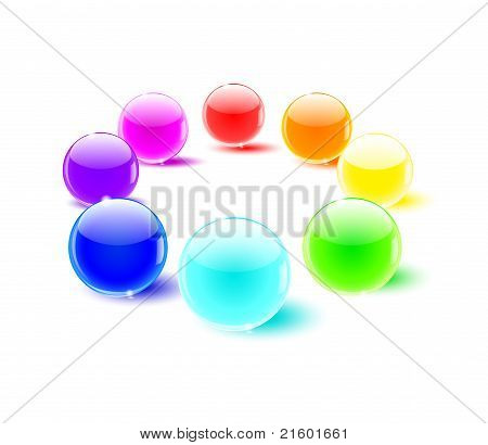 color glass balls