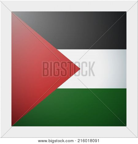 Asian country flag collection with photo of Palestine flag , vector , illustration