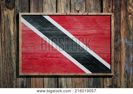 Wooden Trinidad And Tobago Flag