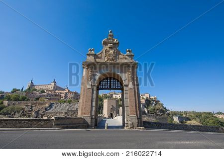 Facade Alfonso Vi Gate In Toledo City