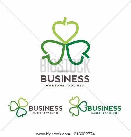 hearts leaf color vector symbol, Abstract flower leaf medical logo icon sign, Alternative medicine conceptual symbol,Vector heart shape composed with leaves