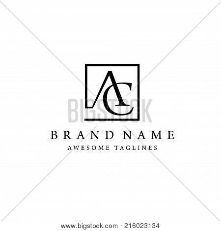 elegant and classy AC letter , Letter A&C logo vector, creative modern and slim letter AC logo