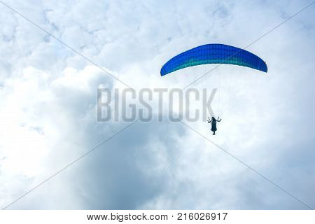 Air activities Paragliding in the sky,phuket province ,thailand.