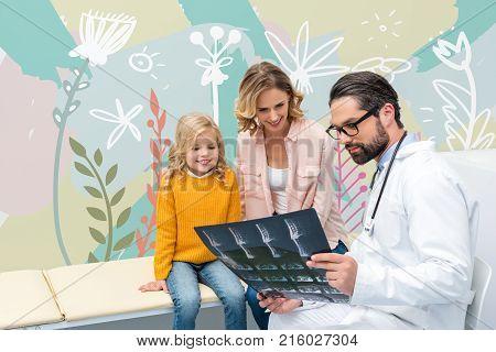 Pediatrist Showing X-ray
