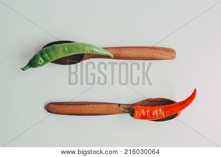 Kitchen Utencils Set For Takeaway Business: Wooden Recycling Eco Spoon, Fork Isolated On White Side