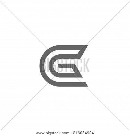 G letter logo with circle design vector illustration template, letter G logo vector, creative Letter G letter logo