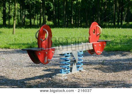 Seesaw At Playground