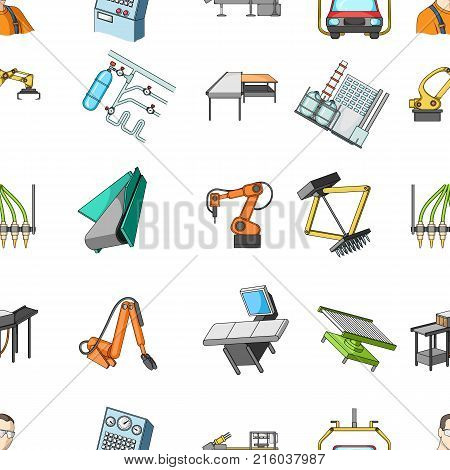 Technical progress and other  icon in cartoon style.Equipment and machinery of the enterprise icons in set collection.