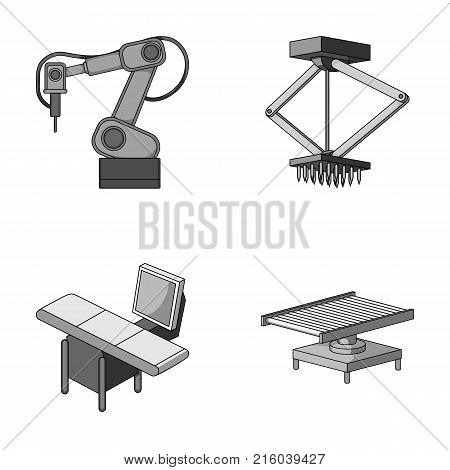 Automotive industry and other  icon in monochrome style.New technologies icons in set collection.