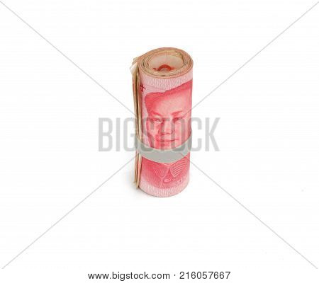 Chinese Currency Yuan Rmb Bill Isolated