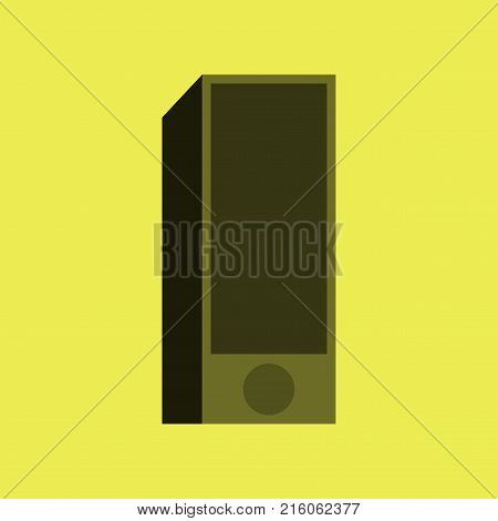 Technology gadget in flat design Subwoofer logo