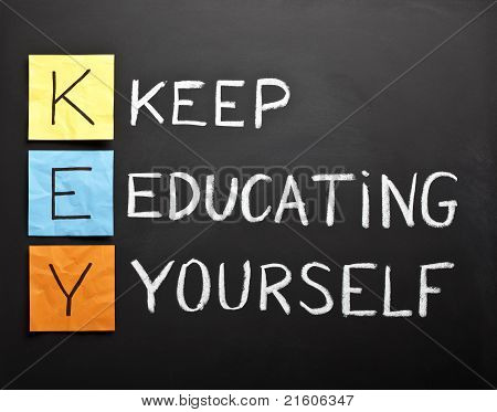 Keep-educating-yourself-acronym