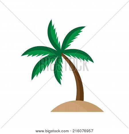 Palm tree cartoon style isolated on white background. Vector stock.