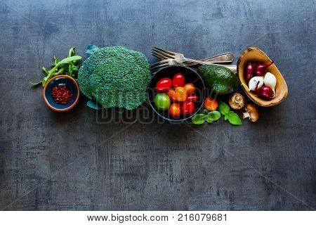 Flat-lay Of Ingredients