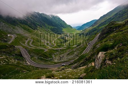 Transfagarasan Road On A Stormy Summer Day