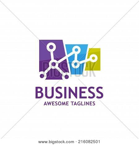 connect data logo, technology connect logo,communication, interaction, integrate concept. Color Vector icon. Abstract business company logo