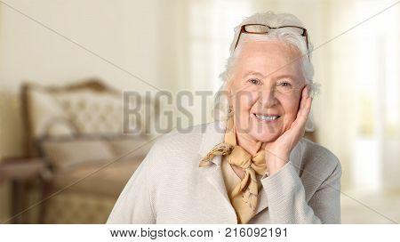 Woman blonde senior grey hair old people old woman elderly woman