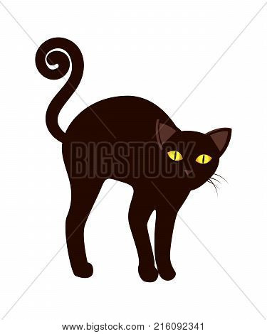 Black Cat Long Tail Vector Photo Free Trial Bigstock