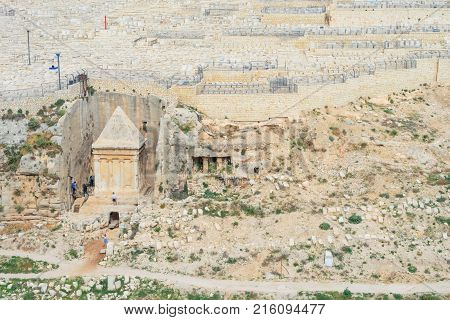 Jewish Cemetery On The Mount Of Olives Including The Silwan Necropolis Is The Most Ancient Cemetery