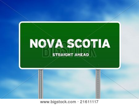 Nova Scotia Highway Sign