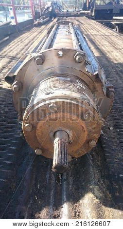 Submersible Centrifugal Pump. Pump For Swinging Oil From A Well