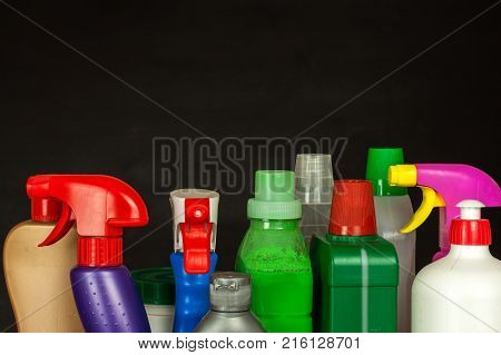 Household cleansers. Detergent. Sale of chemical products. Cleaning in the house