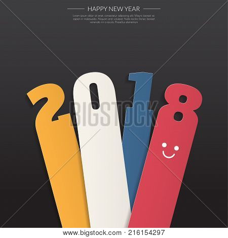 2018 Modern Calendar Template .vector/illustration.