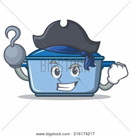 Pirate kitchen character cartoon style vector illustration