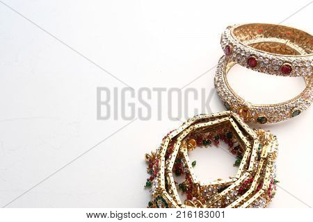 Gold bangle for a valentine gift- close up