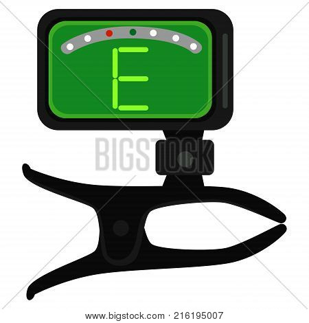 Vector Illustration of Guitar Tuner showing E chords